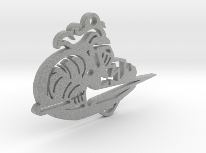 Lancer Keychain or Ornament 3d printed