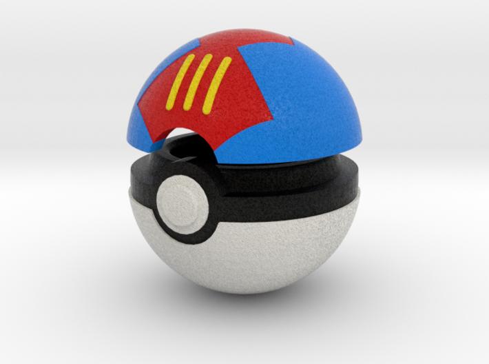 Pokeball (Lure) 3d printed