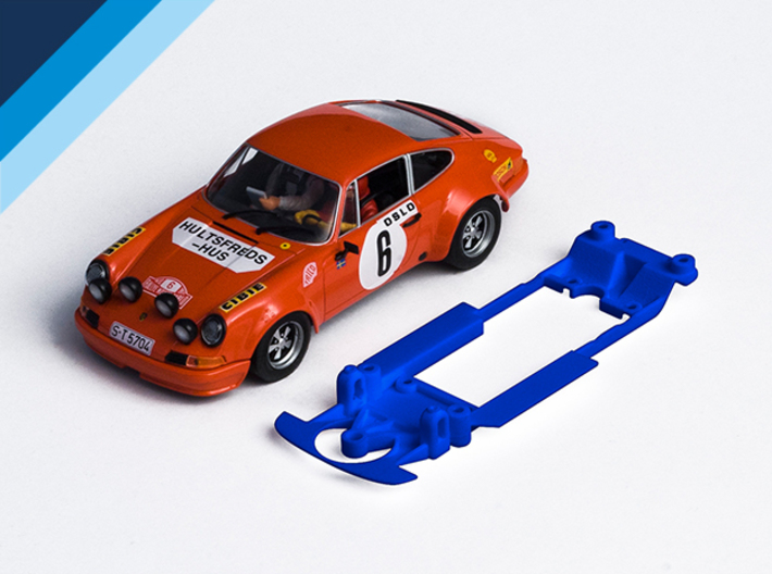 1/32 Fly Porsche 911 / 934 Chassis for Slot.it pod 3d printed Chassis compatible with Fly Porsche 911 S body (not included)