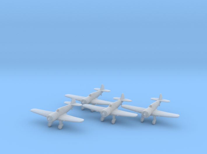 Curtiss 75N 'Hawk' 1:200 x4 FUD 3d printed
