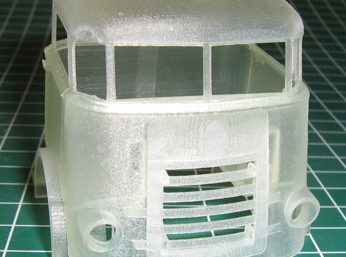 DAF-1500-cab-1to43.5 3d printed Front View of cab assembly