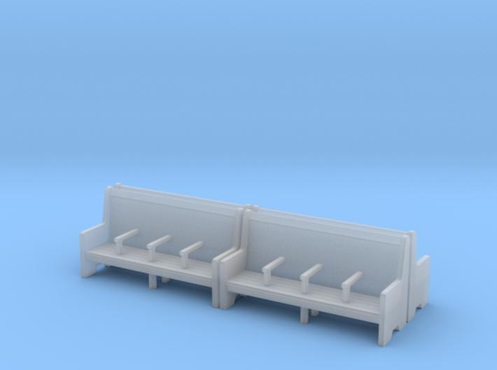Bench type C - 1:87 scale 4 Pcs set  3d printed