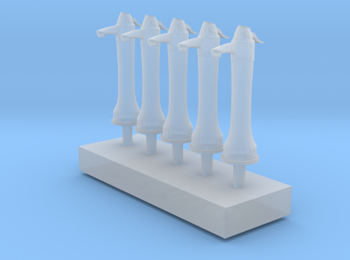 Street pump type: B 1:87( H0 ) scale 5 Pcs set 3d printed