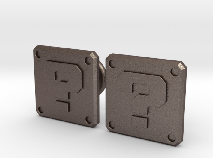 Question Block Cufflinks (Modern) 3d printed