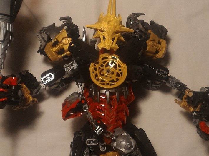 Mask Of Ultimate Power Titan Scale 3d printed Printed by a friend and placed on His Titan Makuta