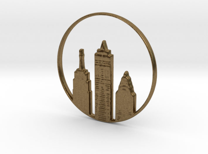 New York Pendant 3d printed New York Pendant or Necklace (different materials have different prices)