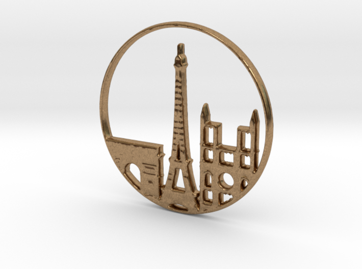 Paris Pendant 3d printed Paris Pendant Different materials have different prices)