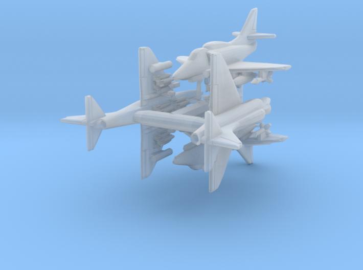 1/700 A-4F w/Gear x4 (FUD) 3d printed