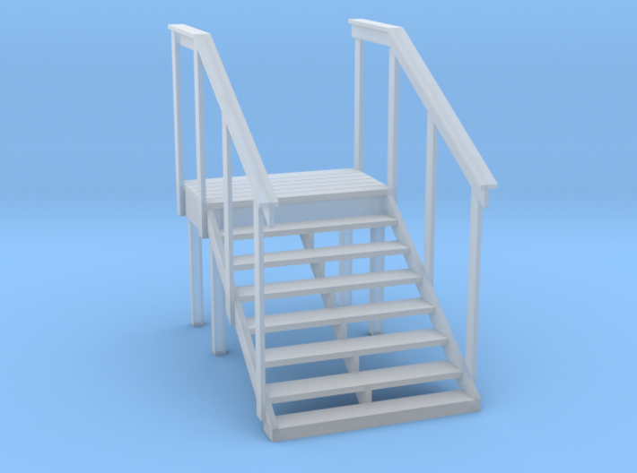 MOF Red Barn Office Stairs - 72:1 Scale 3d printed