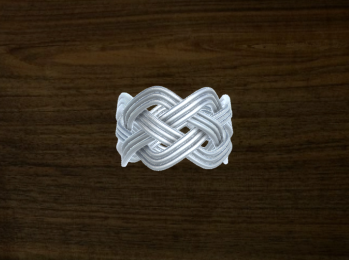 Turk's Head Knot Ring 4 Part X 7 Bight - Size 7 3d printed