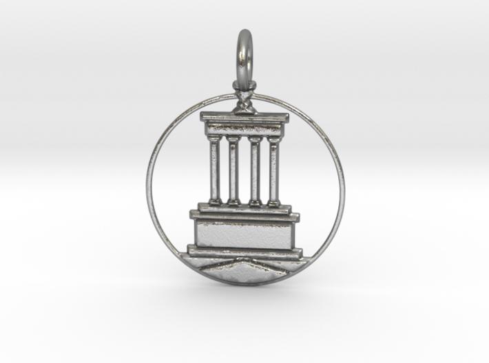 Brooklyn Pendant With Loop 3d printed Brooklyn Pendant with Loop (different materials have different prices)