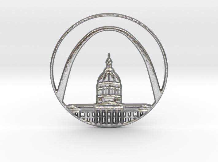 St. Louis Pendant 3d printed St. Louis Pendant (different materials have different prices)