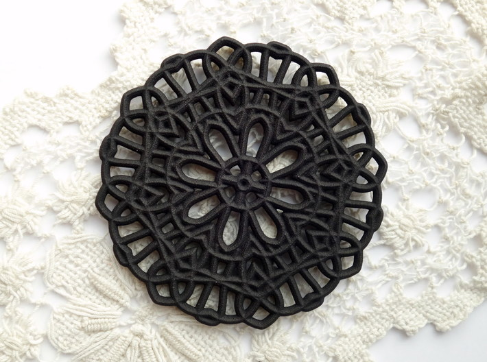 Lace Coaster 3d printed