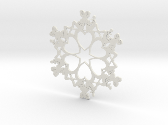 Mothers Snowflake Ornament 3d printed