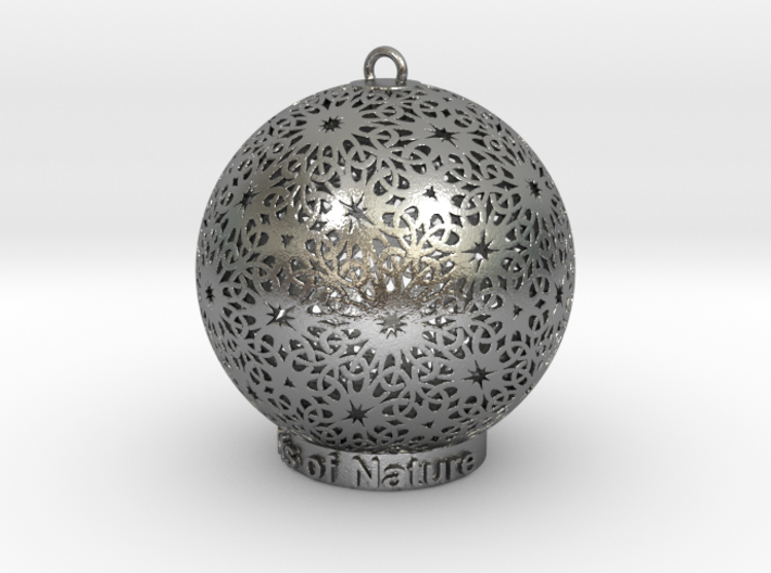 Knots Of Nature Ornament for lighting 3d printed Knots of nature in silver is so spectacle