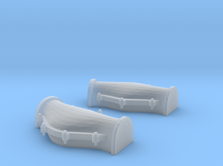 1/48 Cable Locker Covers Foredeck  3d printed