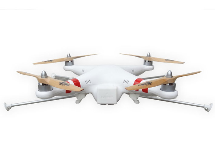 DJI Phantom Foldable Landing Gear 3d printed DJI Phantom Foldable Landing Gear front view folded