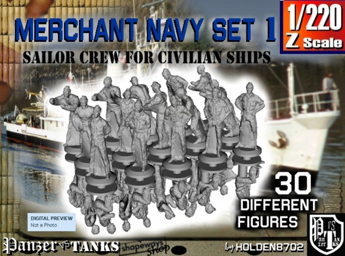 1-220 Merchant Navy Crew Set 1 3d printed