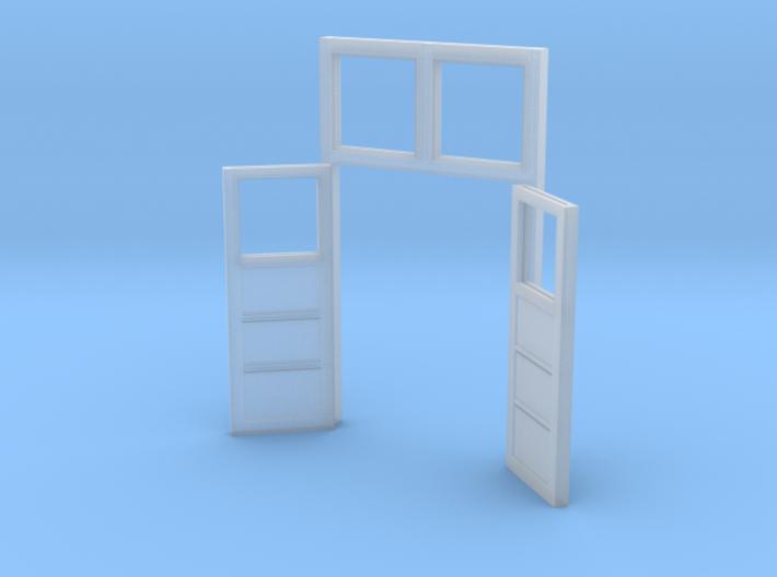 Red Barn Back Double Door Open - 72:1 Scale 3d printed