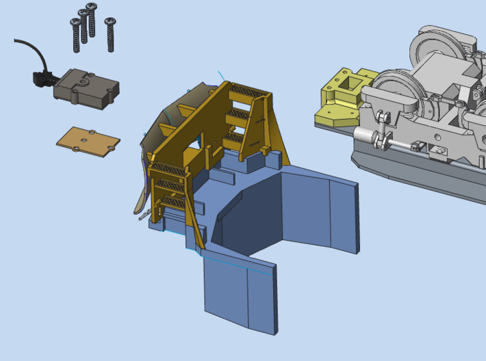 MTH SD90MAC Pilot Set 3d printed Exploded View