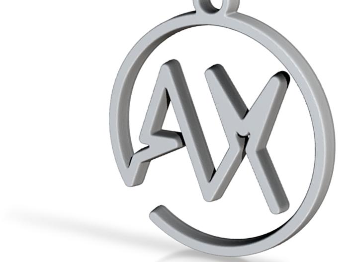 A & X Monogram Pendant 3d printed