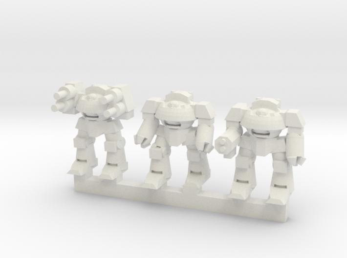 Super Soldier Walker Squadron 3d printed