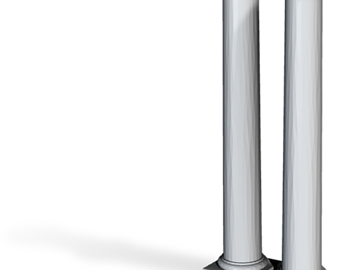 Doric Columns 3500mm high at 1:76 scale X 2 3d printed
