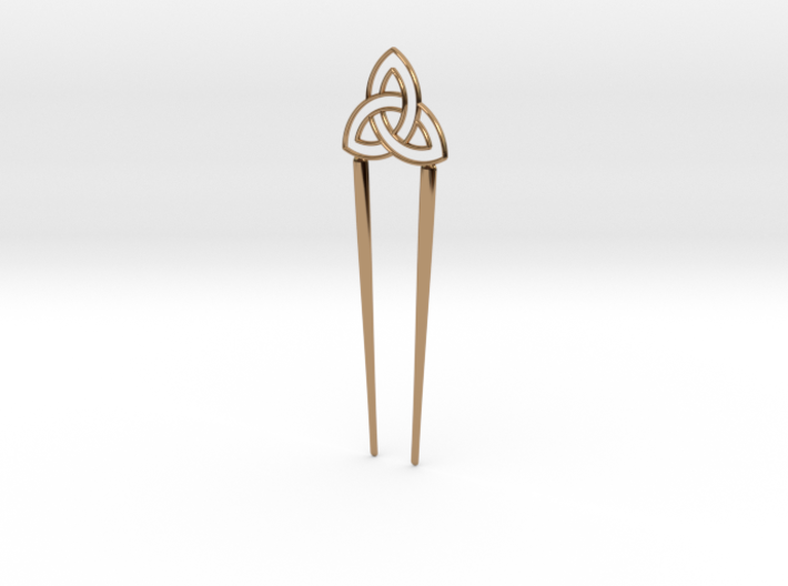 Dual Hairpin - Celtic Knot 3d printed