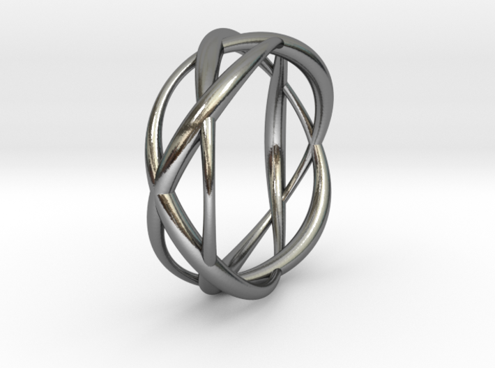 Lissajous Ring 17mm, 3-5-7 3d printed