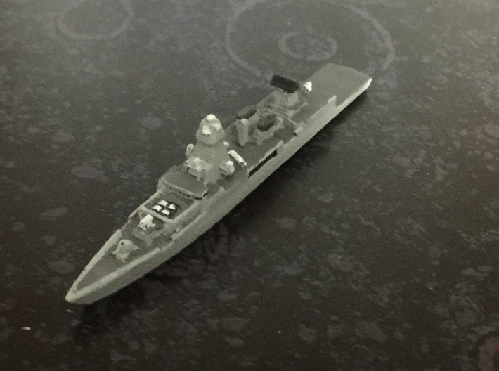 Sachsen-class frigate, 1/1800 3d printed Painted Sample