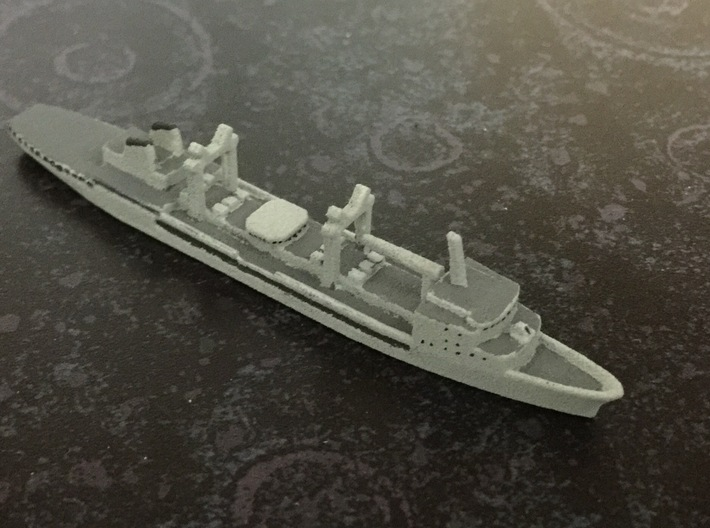 Durance-class tanker, 1/1800 3d printed Painted Sample
