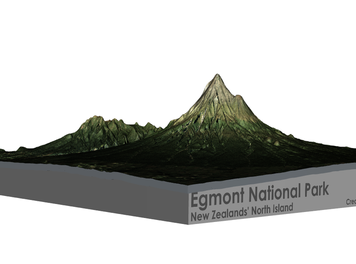 Egmont National Park Map 3d printed