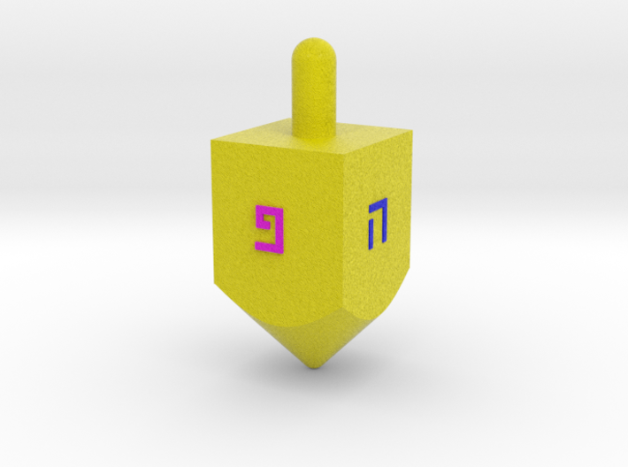 Spinning Top For Hanukkah 3d printed