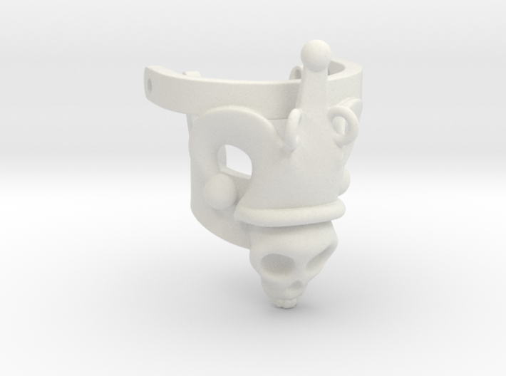 Jester Human Skull Ring Part 1 3d printed