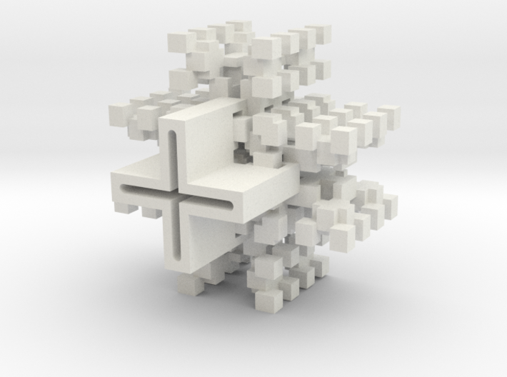 Rotated Pixelwidetree 3d printed