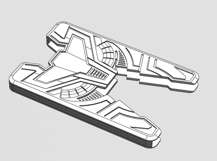 "Sliminal ""Varia"" (8 Cards) 3d printed Vector art showing design features."