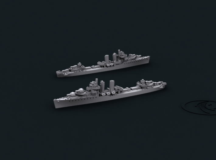 1/3000 US DD Farragut [1944] (x8) 3d printed Computer software render