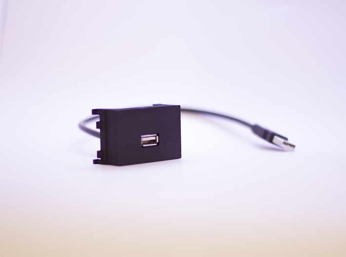 USB Charger Panel for Volvo C30 | S40 | V50 | C70  3d printed Photo from the front