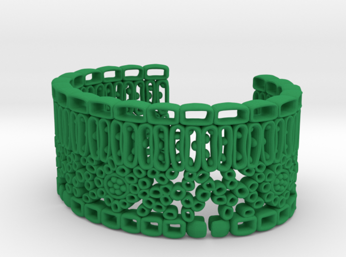 Leaf Anatomy Cuff - Science Jewelry 3d printed