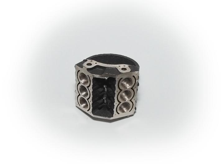 V6 Engine Block Steel Ring 19 mm 3d printed