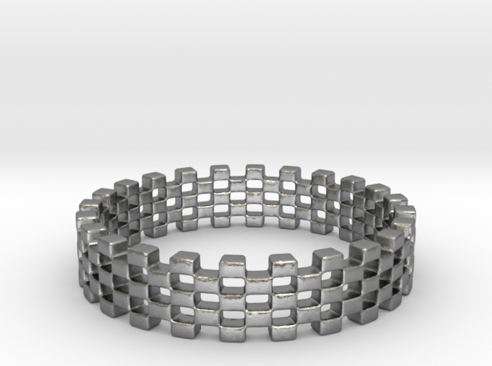 Continum Ring (US Size-5) 3d printed Silver Continum ring is shining
