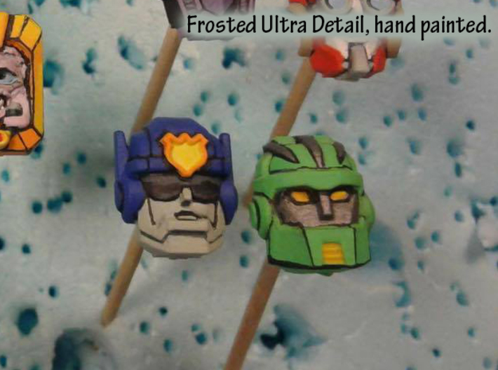 Rescue Bots Faceplate Four Pack #1 3d printed Hand painted frosted ultra detail prints of Chase and Boulder