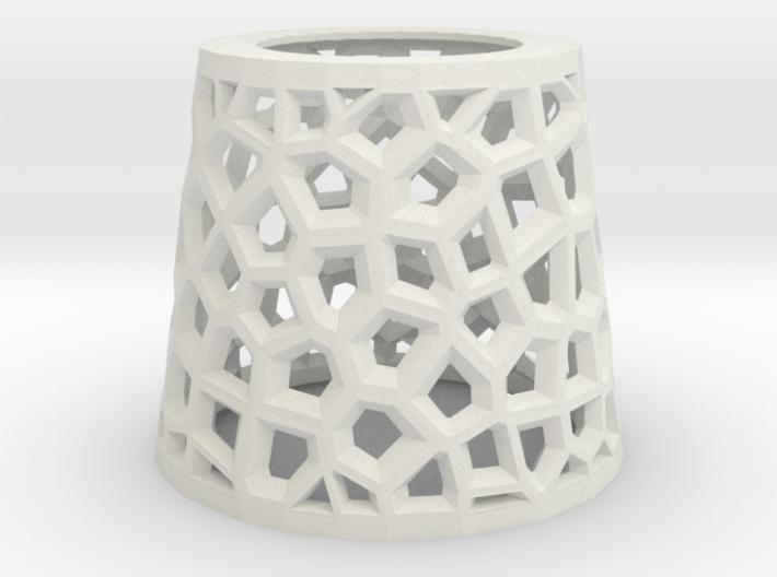 Angular Voronoi Lampshade 3d printed