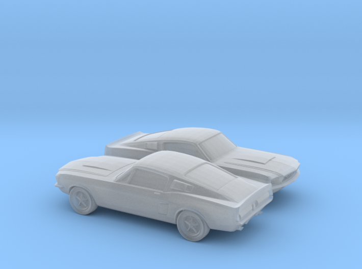 1/160 2X 1966 Ford Mustang 3d printed