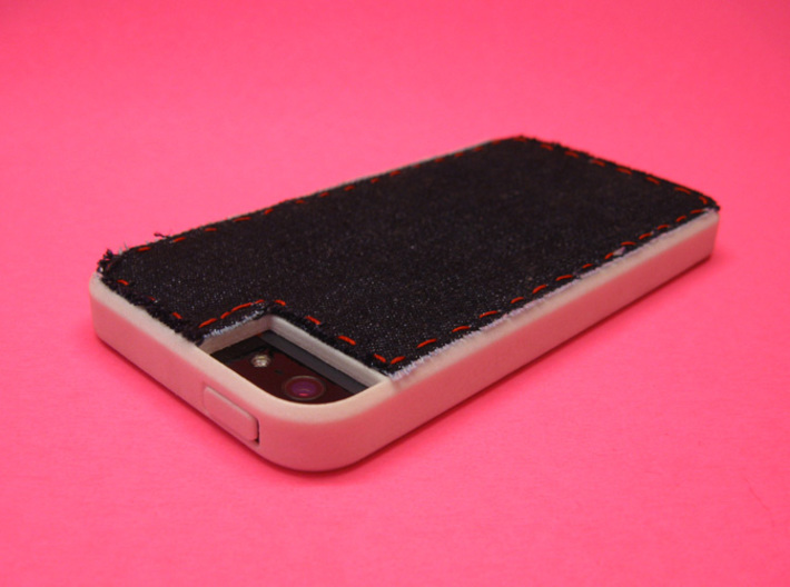 Somi for iPhone 5/5s, a case you can cross stitch  3d printed or you can sew it, this is denim