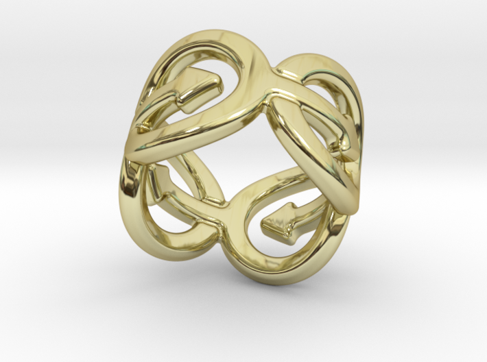 Coming Out Ring 23 – Italian Size 23 3d printed