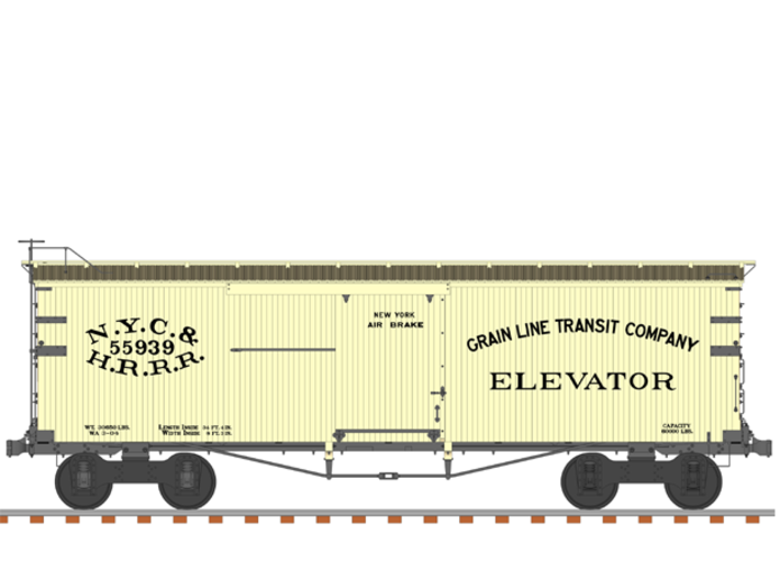 "NYC&HR 35' Boxcar with 20"" Running Board 3d printed"