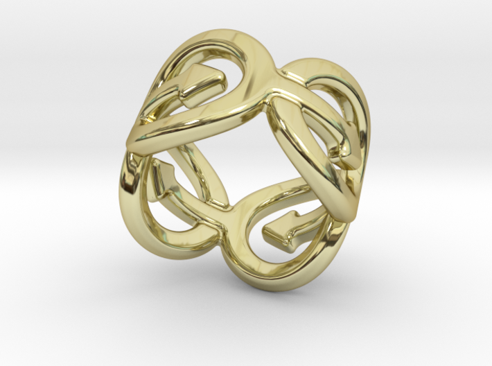 Coming Out Ring 27 – Italian Size 27 3d printed