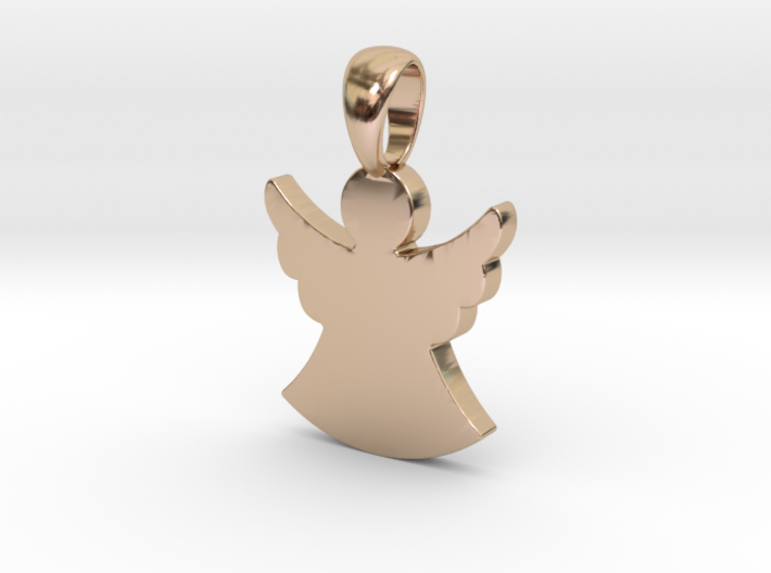 Guardian Angel Pendant (Personalisation available) 3d printed