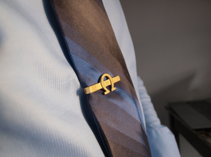 OHM (Omega) Tie clip 3d printed